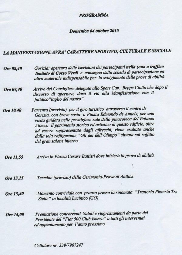 Trofeo Citt� di Gorizia 2015
