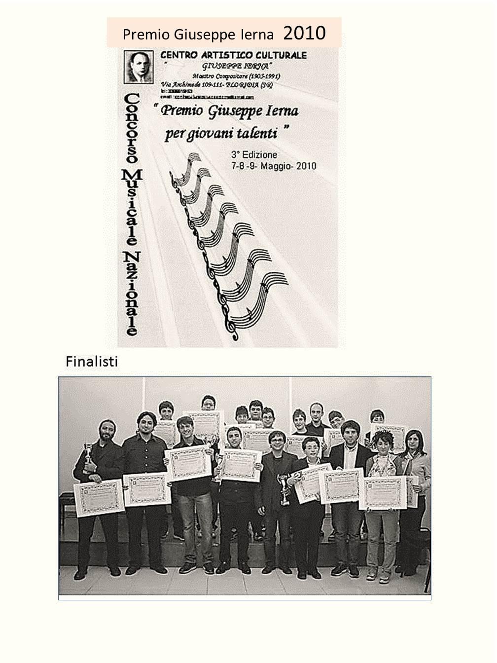 Premio G.Ierna 3�Ed.