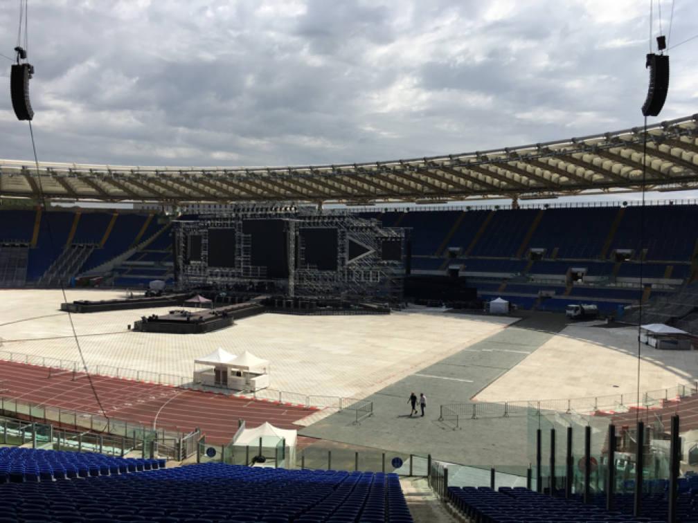 Allestimento Delay Stadio Olimpico Roma,