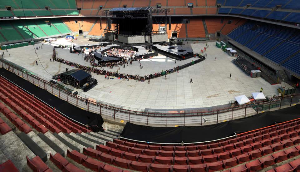 Laura Pausini, Biagio Antonacci, Stadio Olimpico Roma, Stadio San Siro Milano