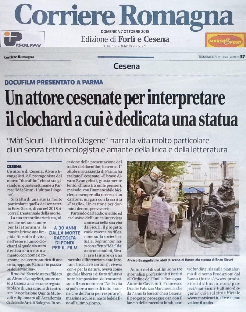 Corriere Romagna, lancio docufilm