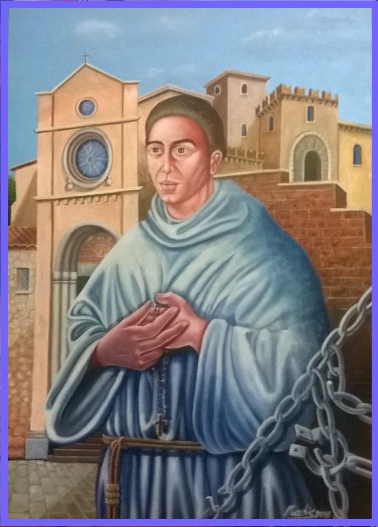 Fausto NURCHIS - Beato Padre Francesco Zirano Acrilico Su Tela 50x70 Anno 2016 ..Omaggio a Ferruccio Ambrosini