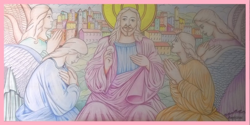 Fausto NURCHIS - Sacra Comunione - Pastello Su Legno 60 X 120 Anno 2016
