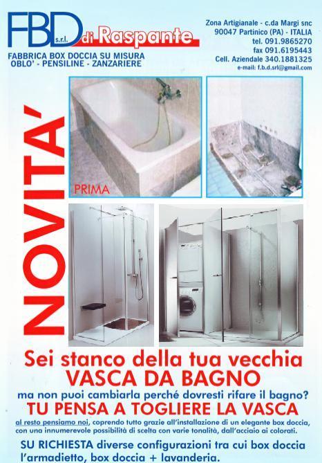 F b d srl partinico box doccia box doccia partinico box for Foto box doccia