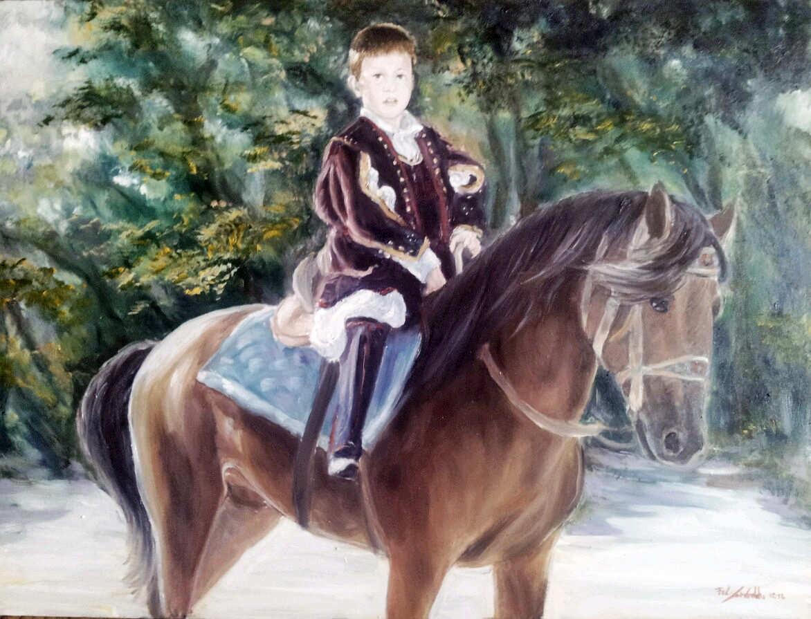 ANDREA CONGIU, giovane cavaliere di Pattada