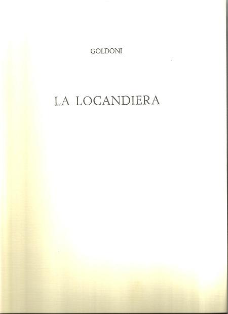 GOLDONI-LA LOCANDIERA