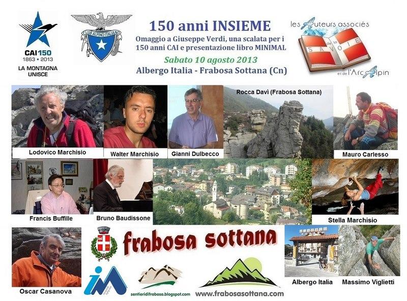 Frabosa Sottana Celebrazioni 150 anni CAI  10 agosto 2013