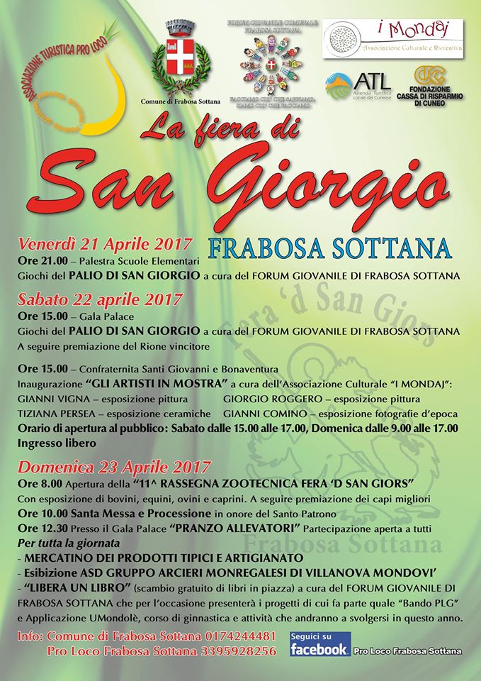 FIERA DI SAN GIORGIO 2017 FRABOSA SOTTANA