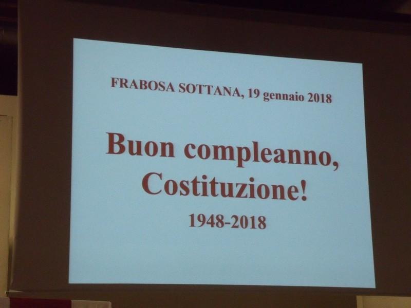 BUON COMPLEANNO COSTITUZIONE 1948-2018
