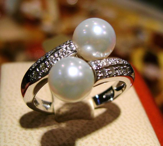 Anello con Perle Naturali