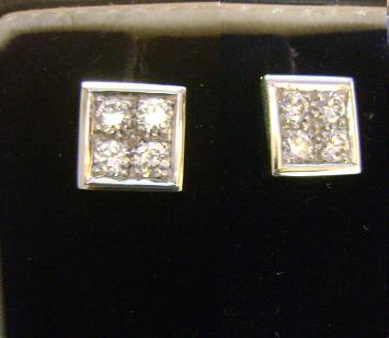 Orecchini quadrati con Diamanti