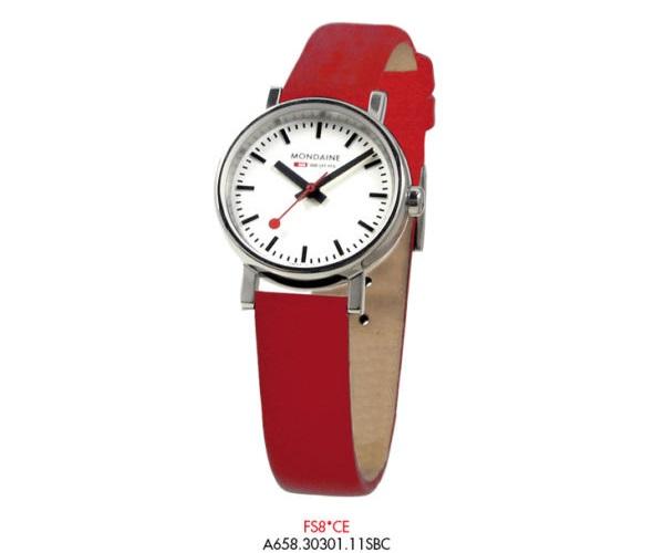 Orologio Mondaine Svizzero misura Piccola cinturino Rosso