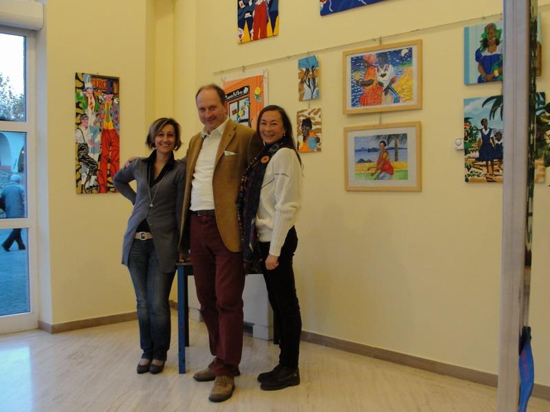 I Colori della vita Il giorno dell'allestimento Con Stefania Montori e Prof.Luca Filipponi