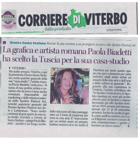 Corriere dell'Umbria 14 marzo 2016