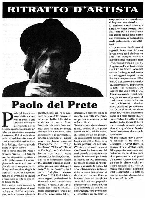 PAOLO DEL PRETE  press