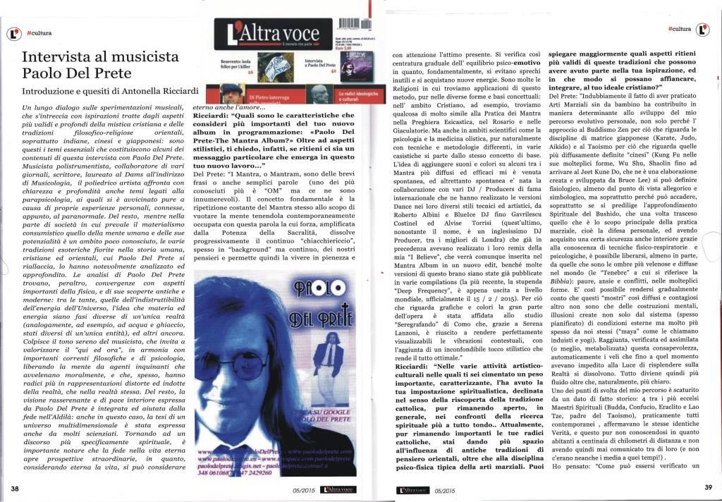 INTERVISTA A PAOLO DEL PRETE di Antonella Ricciardi.