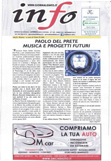 INTERVISTA A PAOLO DEL PRETE di Fulvia Di Iulio,