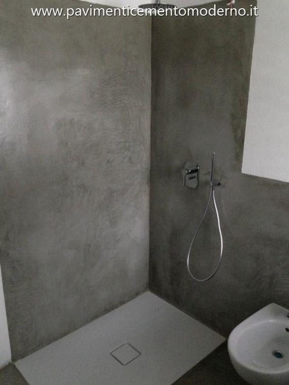 Pavimento in cemento spatolato a mano - Bagno cemento spatolato ...