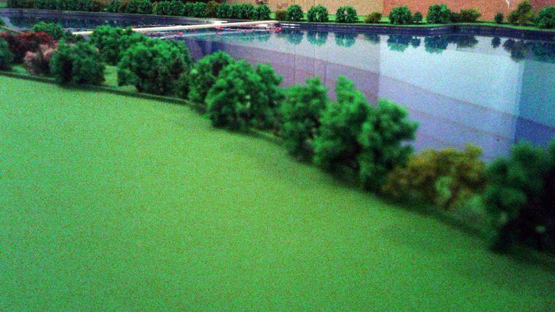 Realizzazione di un lago in scala 1:500