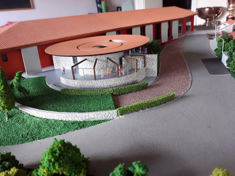 modello completamente smontabile dell' azienda vinicola Zorzettig, progetto AISA, illuminazione interna ed esterna