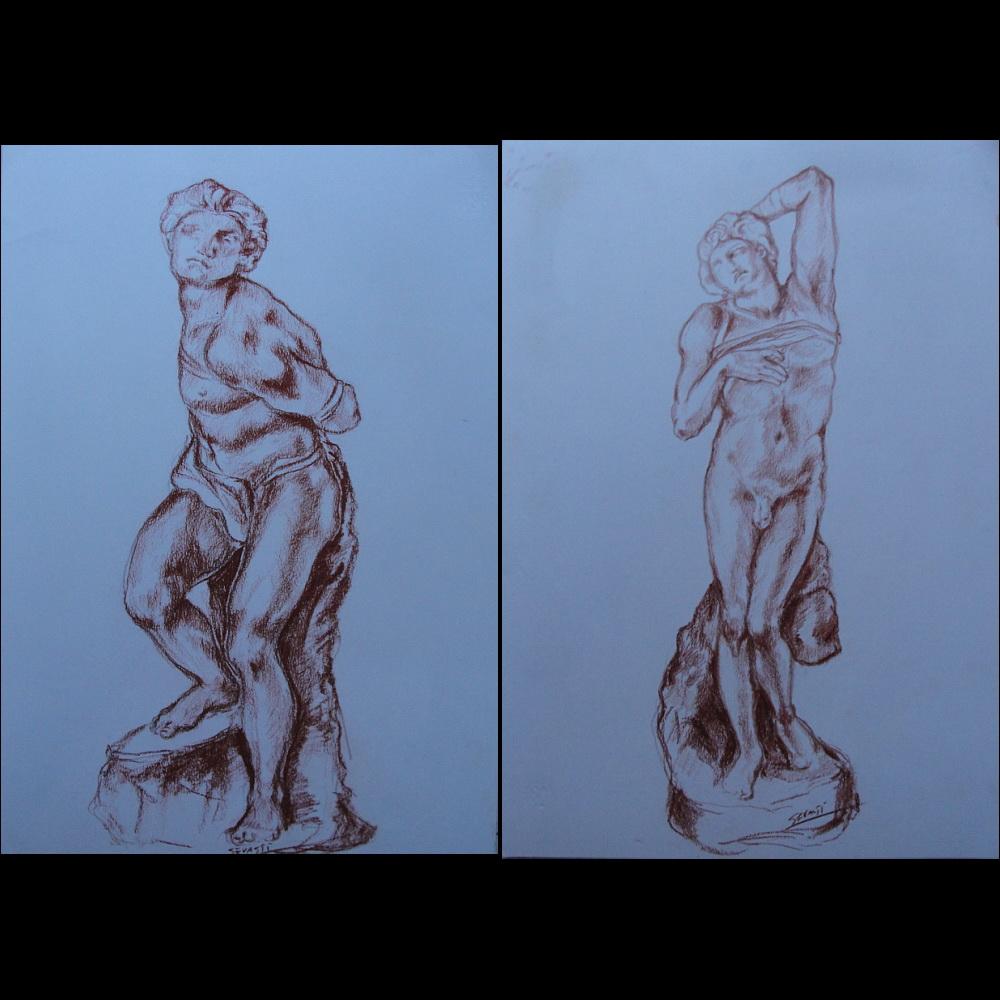 Omaggio a Michelangelo-Studio corpo 1