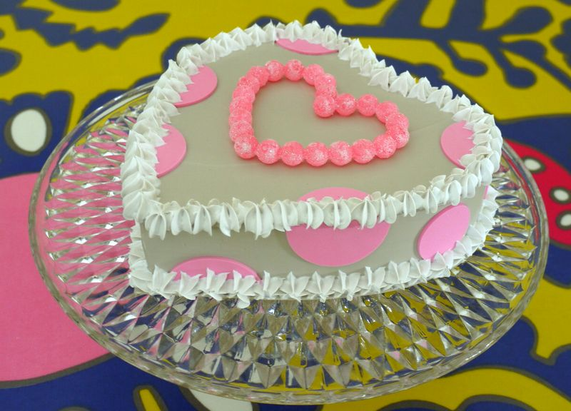 cuore avorio a pois rosa con bob bon zuccherati