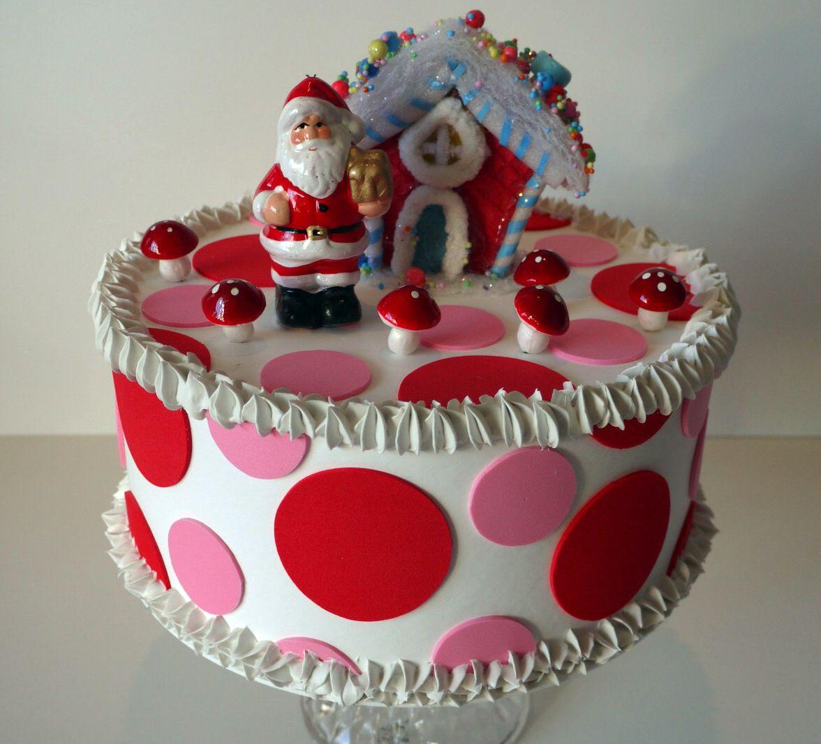 Christmas decorative cake - torta finta natalizia