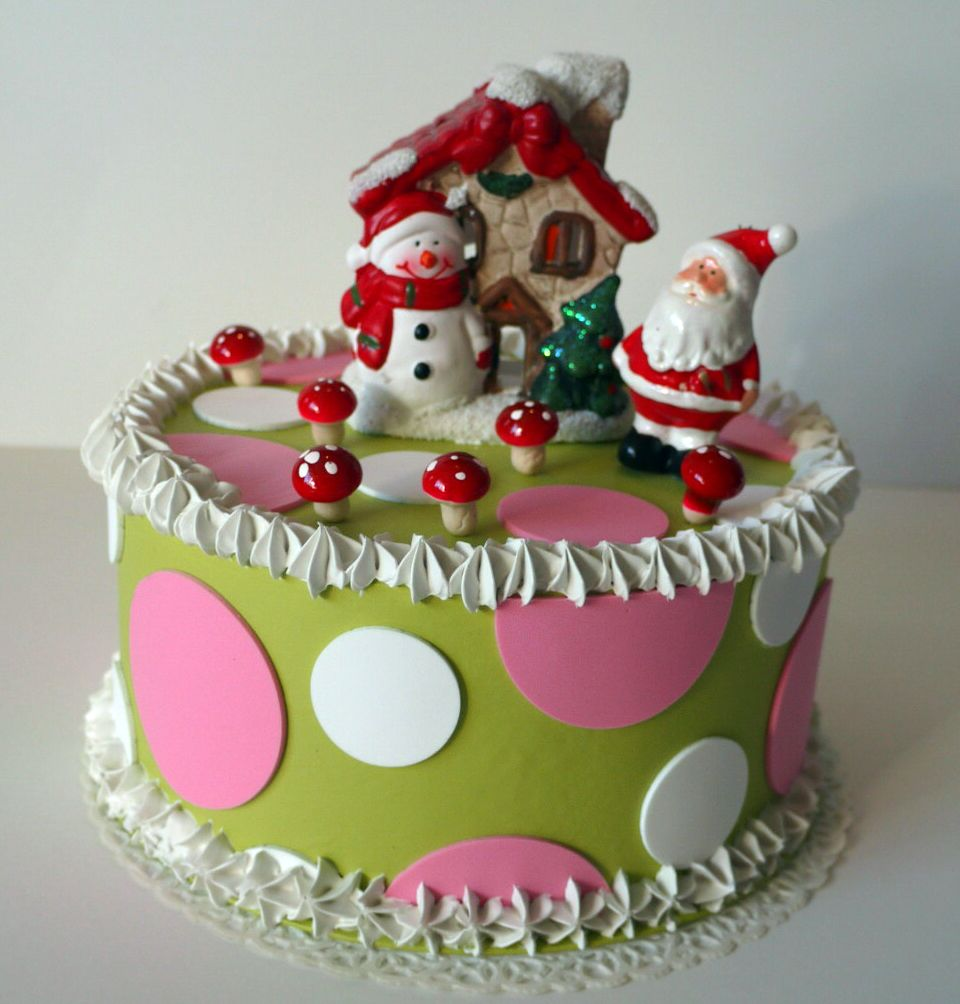 Christmas decorative cake - torta finta natalizia