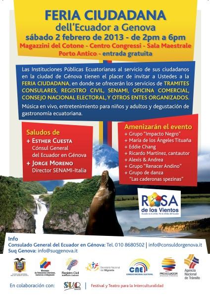Feria Ciudadana del Ecuador en Génova