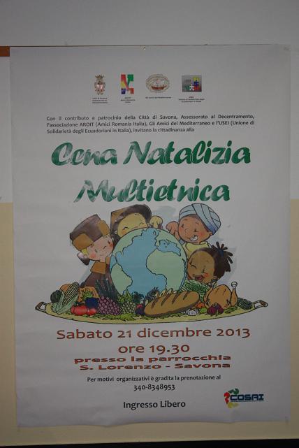 Cena Natalizia Multietnica 2013