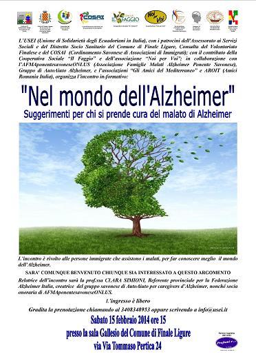 "Incontro ""Nel Mondo dell'Alzheimer"""