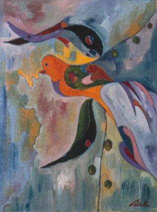 l'uccello e il pesce